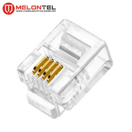 चीन MT-5051 RJ11 Modular Plug 4P4C 6P4C Plug RJ11 Modular Connector With Gold Plated फैक्टरी