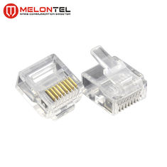 चीन MT-5053S RJ45 Modular Plug  Gold Plated RJ45 8P8C Small Plug Cat5E Cat6 Cat7 Modular Connector फैक्टरी