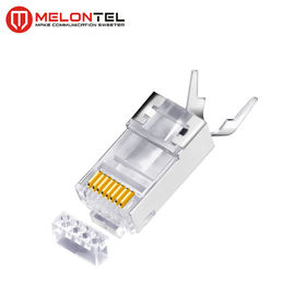 चीन MT-5054 RJ45 Modular Plug Metal Shield RJ45 8P8C Cat7 FTP Plug With Gold Plated फैक्टरी